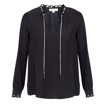 Abbigliamento Donna Top / Blusa MICHAEL Michael Kors SCALLP GRMT CHAIN TOP Nero