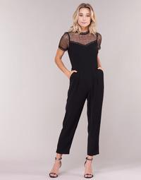 Abbigliamento Donna Tuta jumpsuit / Salopette MICHAEL Michael Kors LACE YOKE JUMPSUIT Nero