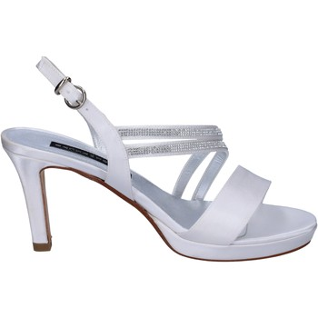 Scarpe Donna Sandali Bacta De Toi sandali bianco raso strass BT845 Bianco
