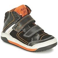 Scarpe Bambino Sneakers alte Primigi MOTT Nero / Arancio