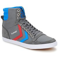 Scarpe Sneakers alte Hummel TEN STAR HIGH CANVAS Grigio / Blu / Rosso