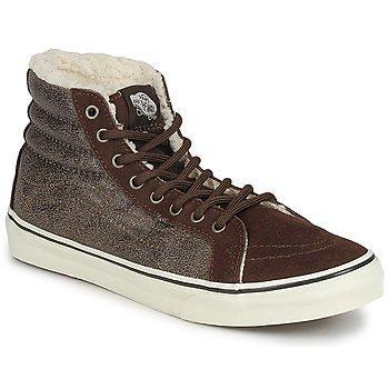Scarpe Donna Sneakers alte Vans CHUKKA SLIM Marrone