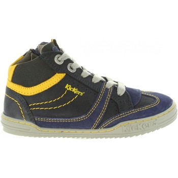 Scarpe Unisex bambino Sneakers alte Kickers 661470-30 JIROMA Azul