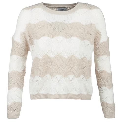 Abbigliamento Donna Maglioni Only ONLKARO Beige / Ecru