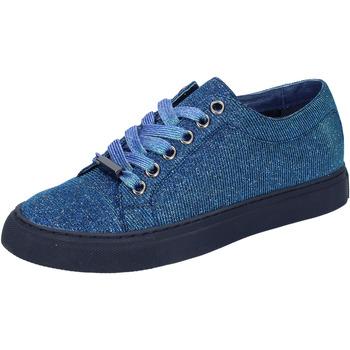 Scarpe Donna Sneakers basse Sara Lopez sneakers blu tessuto BT995 blu