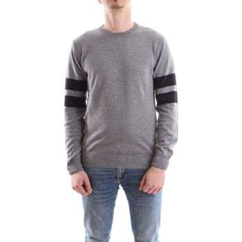 Abbigliamento Uomo Maglioni Daniele Alessandrini FM903283807-MAGLIA-WAVES 1101-grigio-nero