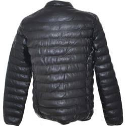 Abbigliamento Uomo Piumini Malu Shoes Bomberino uomo effetto pelle basic invernale caldo slim fit com NERO