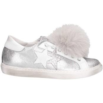Scarpe Unisex bambino Sneakers basse 2 Stars 2SB1328P B/C Argento/bianco