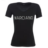 Abbigliamento Donna T-shirt maniche corte Marciano LOGO PATCH CRYSTAL Nero