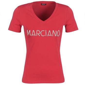 Abbigliamento Donna T-shirt maniche corte Marciano LOGO PATCH CRYSTAL Rosso