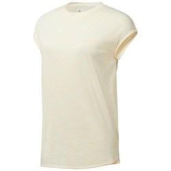 Abbigliamento Donna T-shirt maniche corte Reebok Sport EL Marble Tee Beige