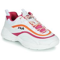 Scarpe Donna Sneakers basse Fila RAY CB LOW WMN Bianco / Rosa / Arancio