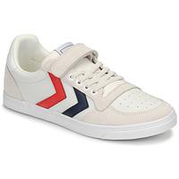 Scarpe Unisex bambino Sneakers basse Hummel SLIMMER STADIL LEATHER LOW JR Bianco