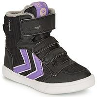 Scarpe Bambina Sneakers alte Hummel STADIL POLY BOOT MID JR Nero