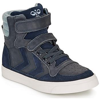 Scarpe Unisex bambino Sneakers alte Hummel STADIL WINTER HIGH JR Blu
