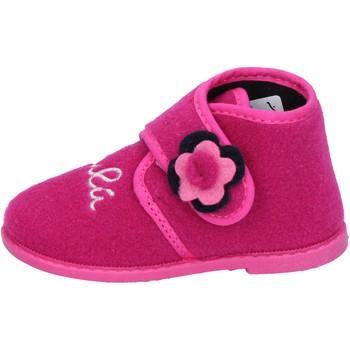 Scarpe Bambina Pantofole Lulu pantofole rosa fucsia tessuto BS28 Rosa