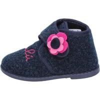 Scarpe Bambina Pantofole Lulu pantofole blu tessuto BS29 blu
