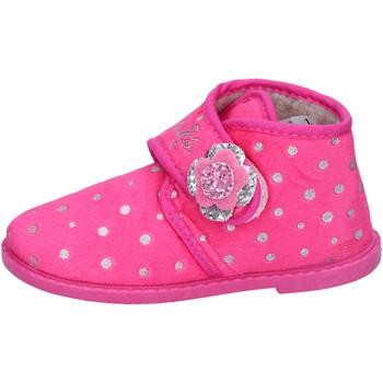 Scarpe Bambina Pantofole Lulu pantofole rosa fucsia tessuto BS44 Rosa