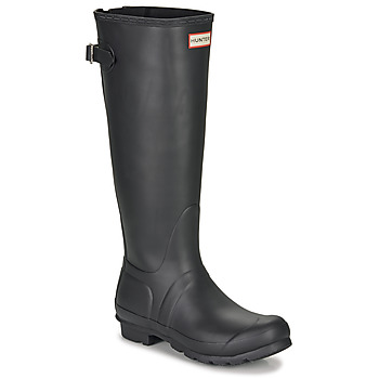 Scarpe Donna Stivali da pioggia Hunter ORIGINAL BACK ADJUSTABLE Nero