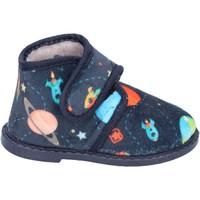 Scarpe Bambino Pantofole Blaike pantofole blu tessuto BS50 blu