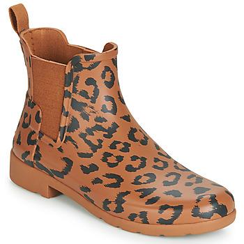 Scarpe Donna Stivali da pioggia Hunter ORG REFINED CHELSEA HYBRD PRNT Leopard