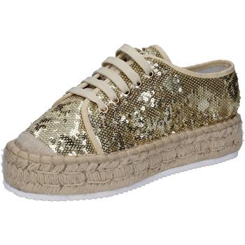 Scarpe Donna Sneakers basse Francescomilano sneakers platino tessuto paillettes BS77 ALTRI