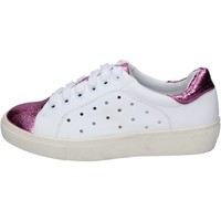 Scarpe Donna Sneakers basse Francescomilano sneakers bianco rosa pelle sintetica BS78 Bianco