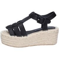 Scarpe Donna Sandali Francescomilano sandali nero pelle sintetica BS80 Nero