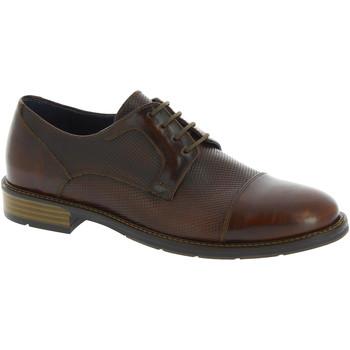 Scarpe Uomo Derby Raymont scarpe stringate uomo artigianali in pelle effetto marrone