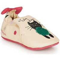 Scarpe Bambina Pantofole Catimini CALICETTE Beige / Rosa