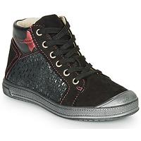 Scarpe Bambina Sneakers alte GBB ORENGETTE Nero / Argento