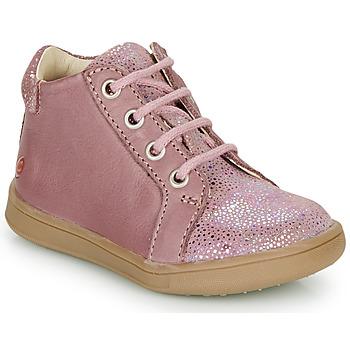 Scarpe Bambina Sneakers alte GBB FAMIA Vieux / Rosa