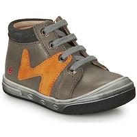 Scarpe Bambino Sneakers alte GBB OLINOU Grigio / Ocre