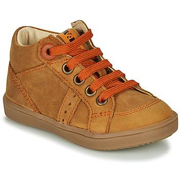 Scarpe Bambino Sneakers alte GBB ANGELITO Cognac