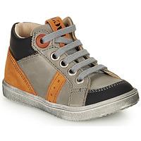 Scarpe Bambino Sneakers alte GBB ANGELITO Grigio / Arancio