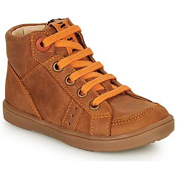 Scarpe Bambino Sneakers alte GBB ANGELITO Cognac / Arancio
