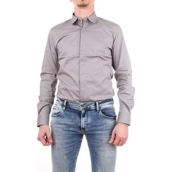 Abbigliamento Uomo Camicie maniche lunghe Antony Morato MMSL00293-FA450001-CAMICIA 9019-grigio-chiaro