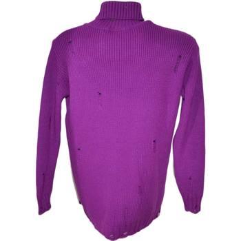 Maglione dolcevita uomo lungo viola ...