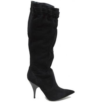 Scarpe Donna Stivali Bata Donna Stivale In Camoscio Con Punta In Colore nero Nero