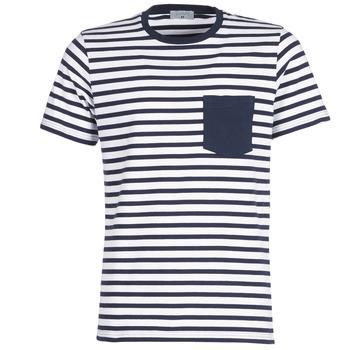 Abbigliamento Uomo T-shirt maniche corte Casual Attitude KARALE Marine / Bianco