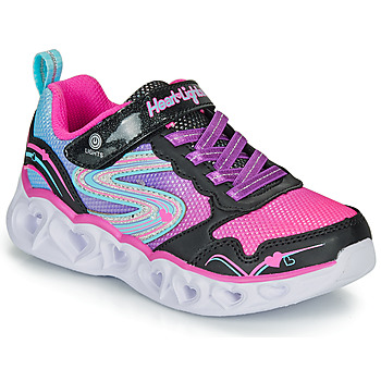 Scarpe Bambina Sneakers basse Skechers HEART LIGHTS Nero / Rosa