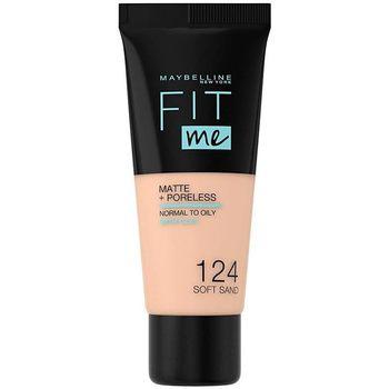 Bellezza Donna Fondotinta & primer Maybelline Fit Me Matte+poreless Foundation 124-soft Sand 30 ml