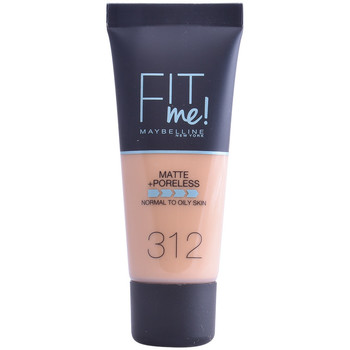 Bellezza Donna Fondotinta & primer Maybelline Fit Me Matte+poreless Foundation 312-golden 30 ml