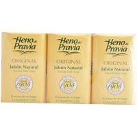 Bellezza Corpo e Bagno Heno De Pravia Original Jabon Natural Lote 3 X 150 Gr