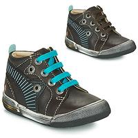 Scarpe Bambino Sneakers alte GBB NOAH Marrone / Blu