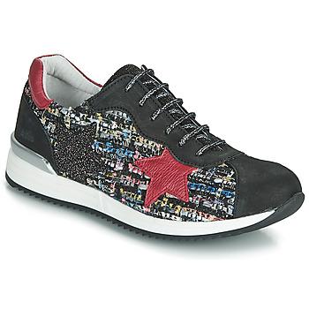 Scarpe Bambina Sneakers basse Achile LAURA Nero / Rosso / Multicolore