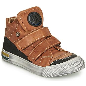 Scarpe Bambino Sneakers alte Achile HUGO Cognac