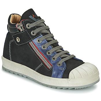 Scarpe Bambino Sneakers alte Achile DIEGO Nero / Blu