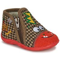 Scarpe Bambino Pantofole GBB NEREO Rosso / Marrone
