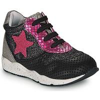 Scarpe Bambina Sneakers basse Ikks KAREN Nero / Rosa